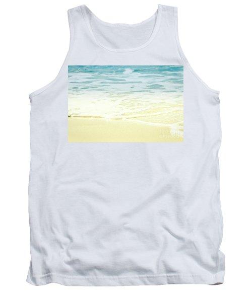 Tank Top featuring the photograph Kapalua Beach Dream Colours Sparkling Golden Sand Seafoam Maui by Sharon Mau