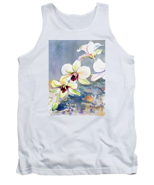 Kauai Orchid Festival Tank Top by Marionette Taboniar