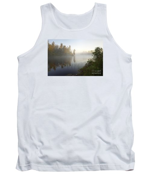 Tank Top featuring the photograph Kawishiwi Morning Fog by Larry Ricker