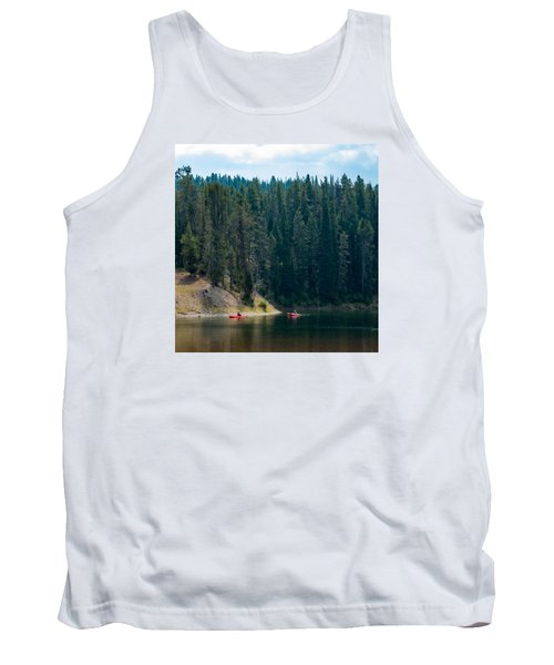 Tank Top featuring the photograph Kayakers by Cathy Donohoue
