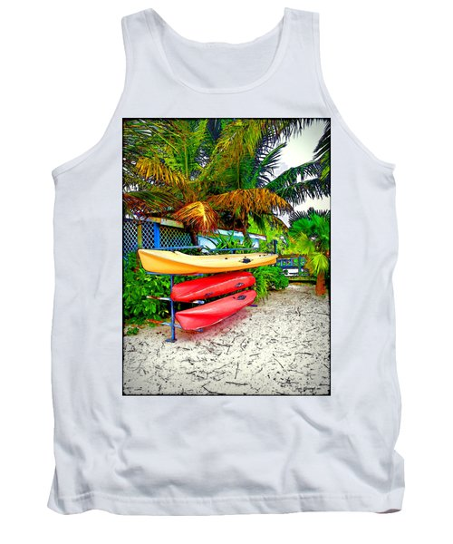Kayaks In Paradise Tank Top