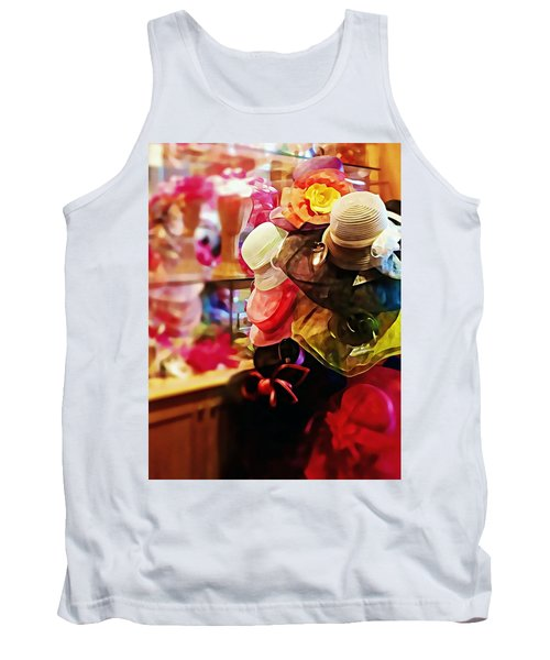 Tank Top featuring the photograph kentucky Derby Hats by Robin Regan