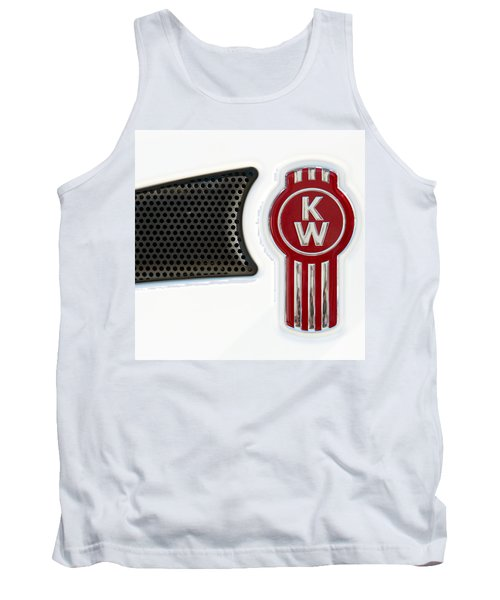 Kenworth Tractor White Tank Top