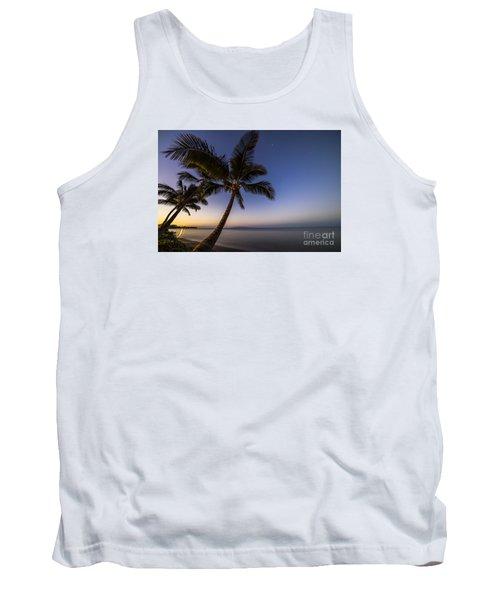 Kihei Maui Hawaii Palm Tree Sunrise Tank Top