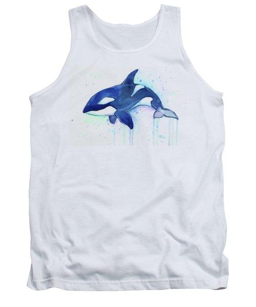 Kiler Whale Watercolor Orca  Tank Top