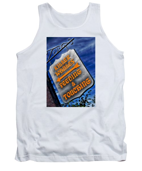 Tank Top featuring the photograph Killer Whales Sign by Bob Pardue