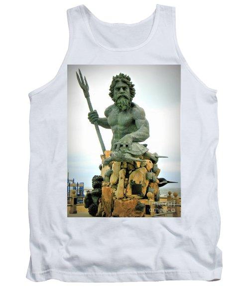 King Neptune Statue Tank Top