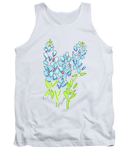 Kinley Bluebonnet And Horse Watercolor Tank Top