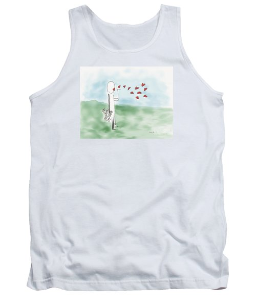 Tank Top featuring the photograph Kisses And Love   by Haleh Mahbod