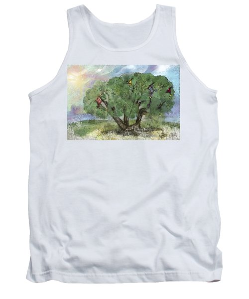 Tank Top featuring the painting Kite Eating Tree by Annette Berglund