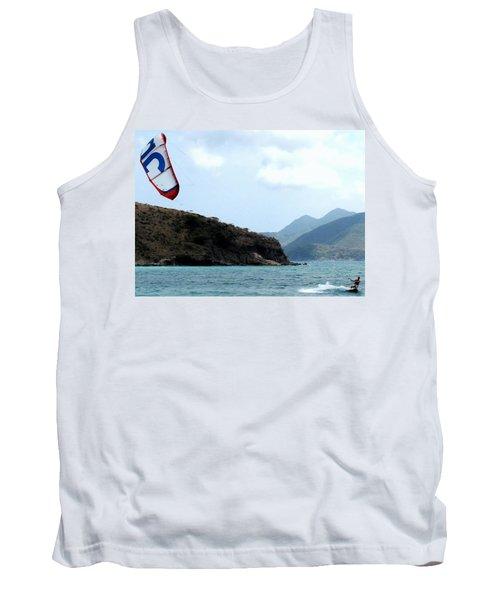 Kite Surfer St Kitts Tank Top by Ian  MacDonald