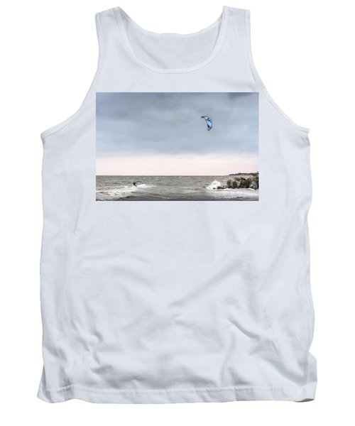 Kite Surfing On The Chesapeake Bay Tank Top