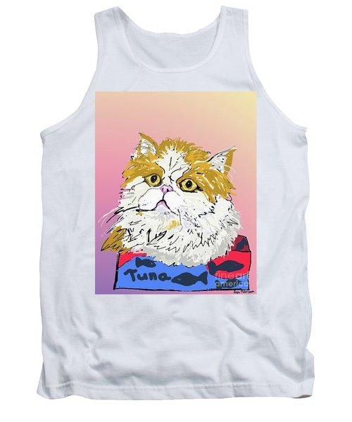 Kitty In Tuna Can Tank Top by Ania M Milo