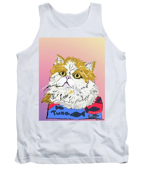 Kitty In Tuna Can Tank Top