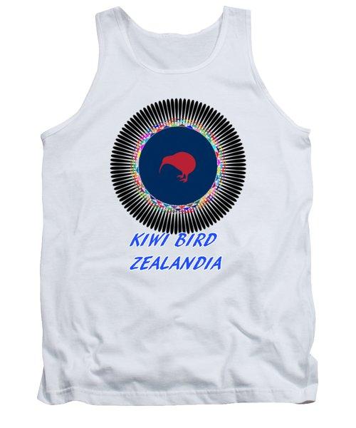 Kiwi Bird Zealandia Mandala Tank Top by Peter Gumaer Ogden