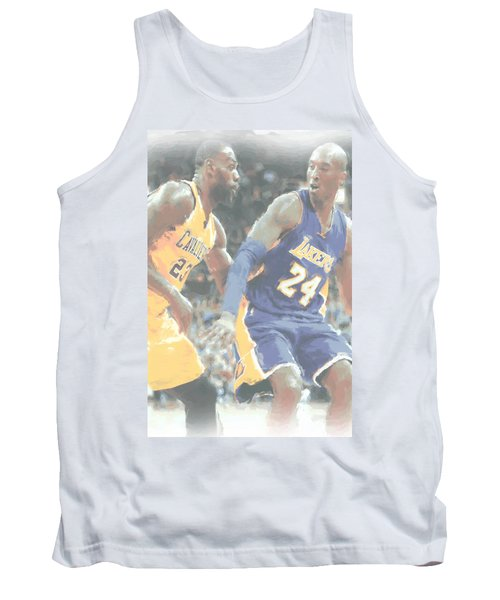 Kobe Bryant Lebron James 2 Tank Top by Joe Hamilton