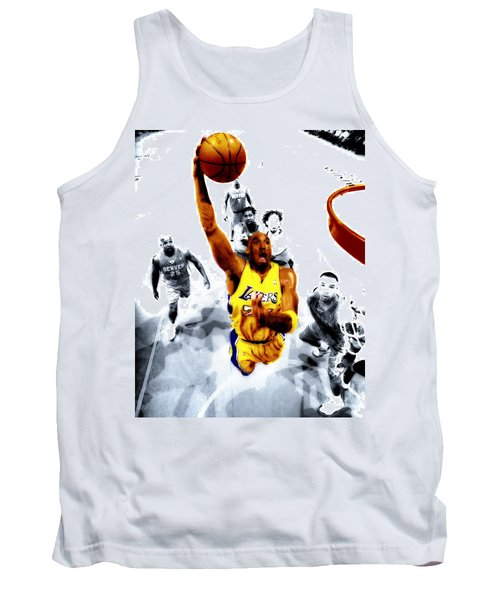 Kobe Bryant Took Flight Tank Top by Brian Reaves