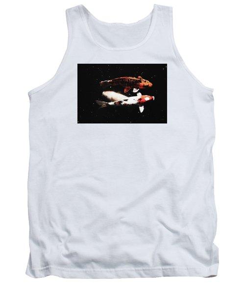 Tank Top featuring the photograph Koi Trio  by Deborah  Crew-Johnson