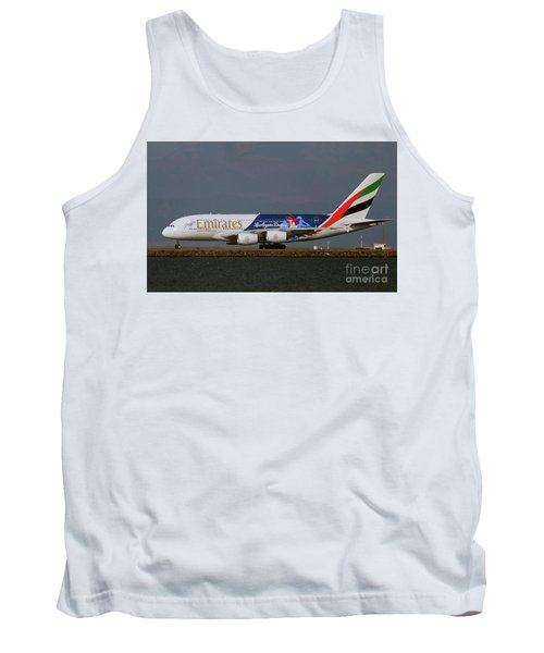 La Dodgers A380 Ready For Take-off At Sfo Tank Top