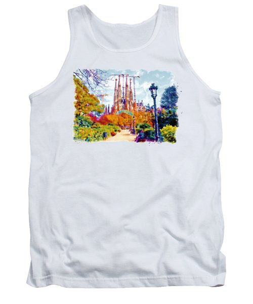 La Sagrada Familia - Park View Tank Top by Marian Voicu