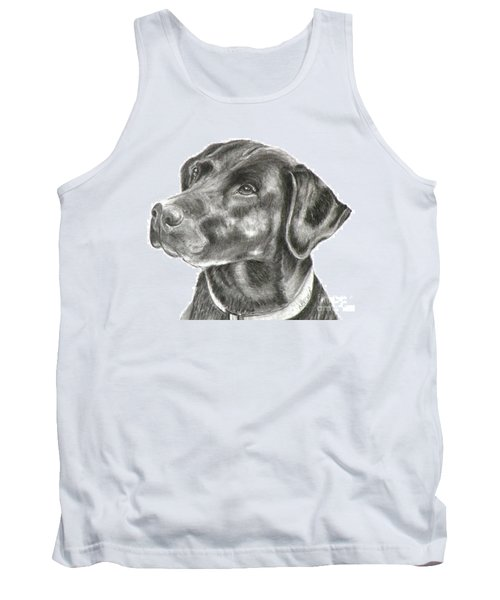 Lab Charcoal Drawing Tank Top