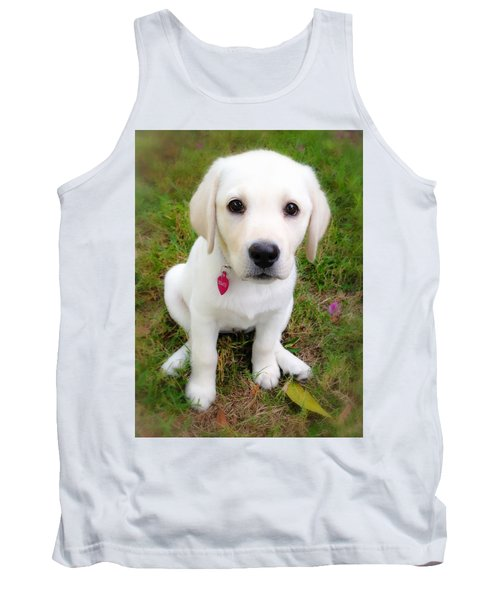 Lab Puppy Tank Top by Stephen Anderson