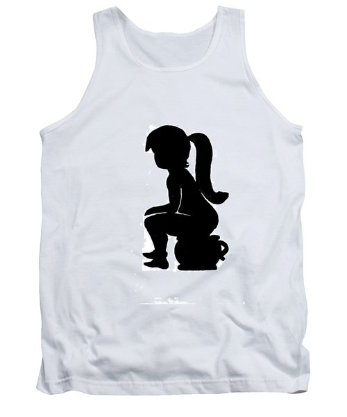 Ladies Room Sign Silhouette Tank Top
