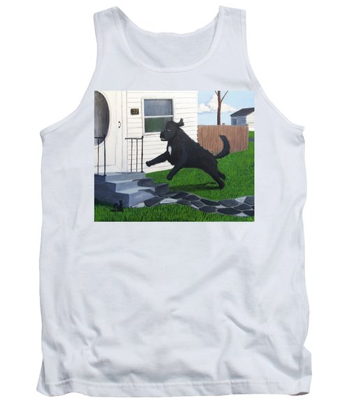 Lady Leaps The Small Front Stairs Tank Top