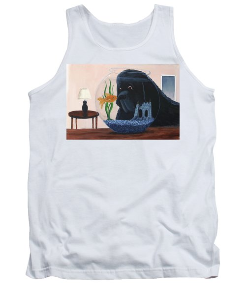Lady Looks In The Fish Bowl For Mommy And Daddy Tank Top