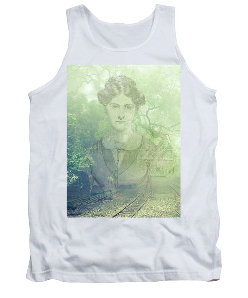 Lady On The Tracks Tank Top by Angela Hobbs