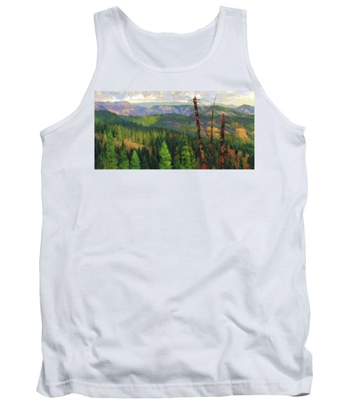 Tank Top featuring the painting Ladycamp by Steve Henderson