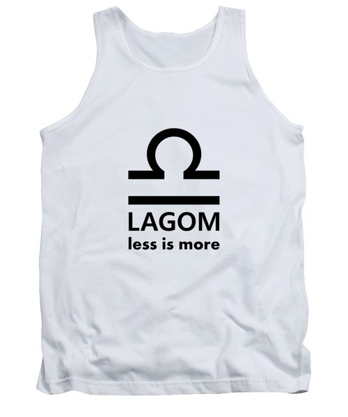 Lagom - Less Is More I Tank Top
