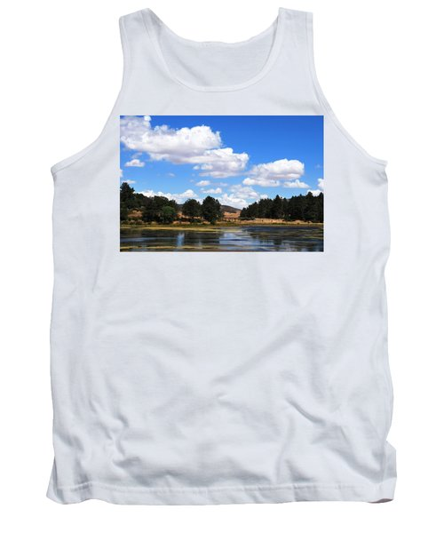 Lake Cuyamac Landscape And Clouds Tank Top