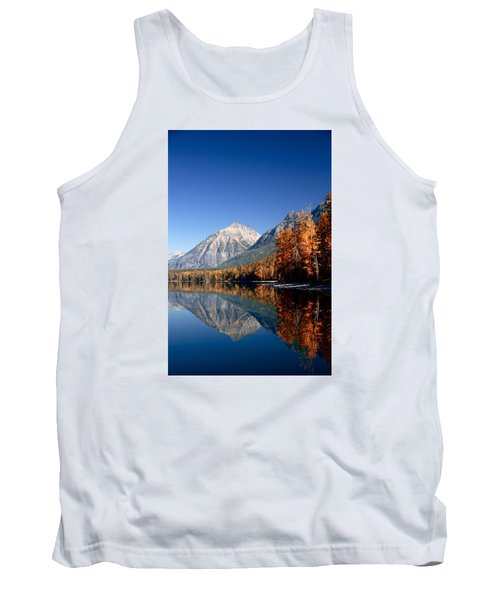 Lake Mcdonald Autumn Tank Top by Lawrence Boothby