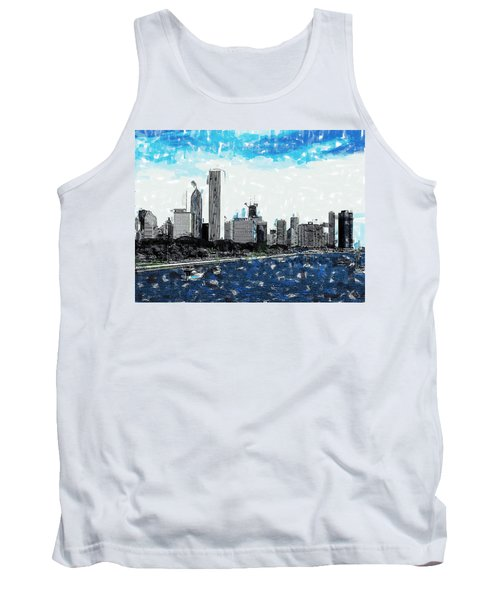 Lake Michigan And The Chicago Skyline Tank Top
