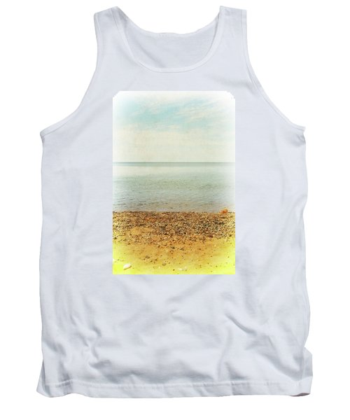 Tank Top featuring the photograph Lake Michigan With Stony Shore by Michelle Calkins