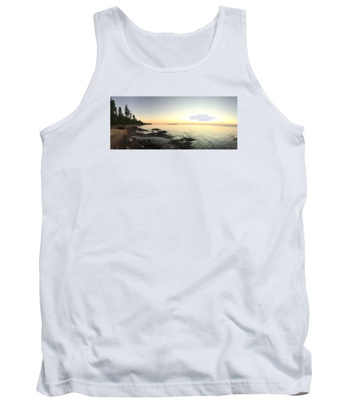 Lake Superior Evening Sky Tank Top by Paula Brown