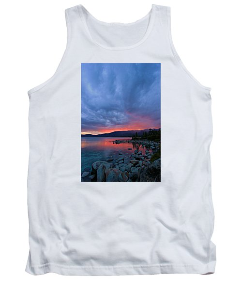 Lake Tahoe Sunset Portrait 2 Tank Top by Sean Sarsfield