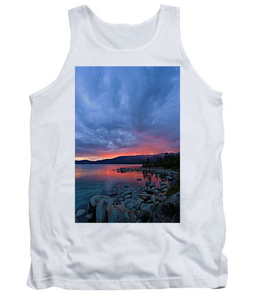 Lake Tahoe Sunset Portrait 2 Tank Top