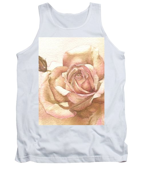Tank Top featuring the painting Lalique Rose by Sandra Phryce-Jones