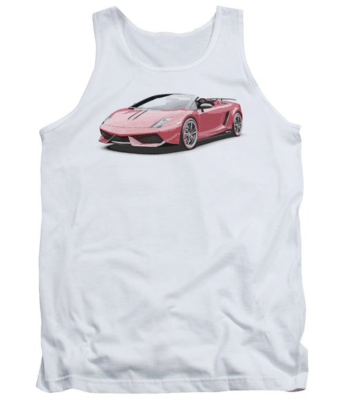 Lamborghini Gallardo - Parallel Hatching Tank Top