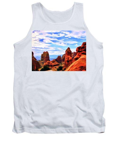 Land Of Moab - Watercolor Tank Top