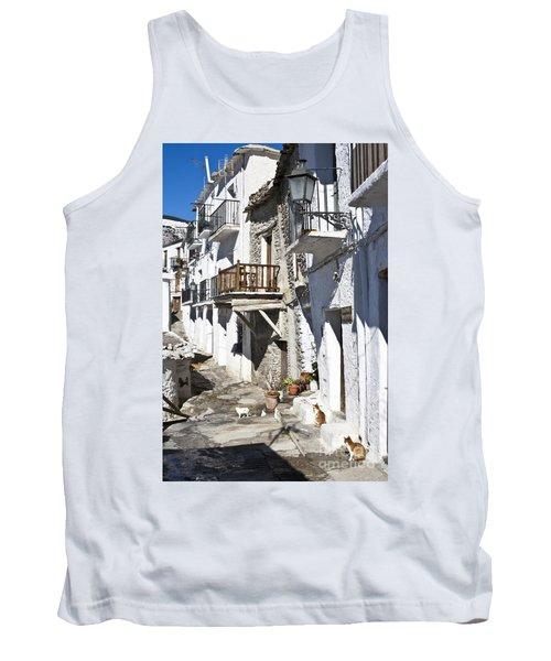 Tank Top featuring the photograph Street In Capileira Puebla Blanca by Heiko Koehrer-Wagner