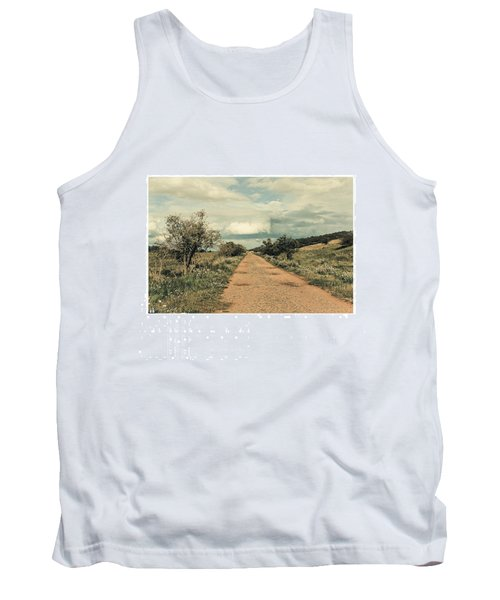 #landscape #stausee #path #road #tree Tank Top