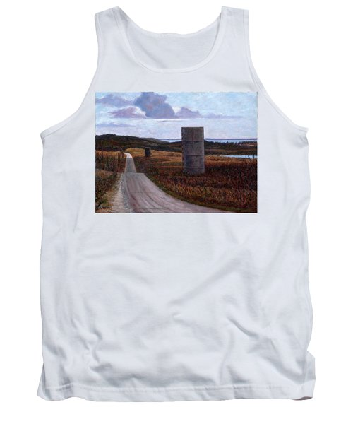 Landscape With Silos Tank Top