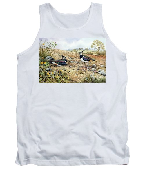Lapwing Family With Goldfinches Tank Top by Carl Donner
