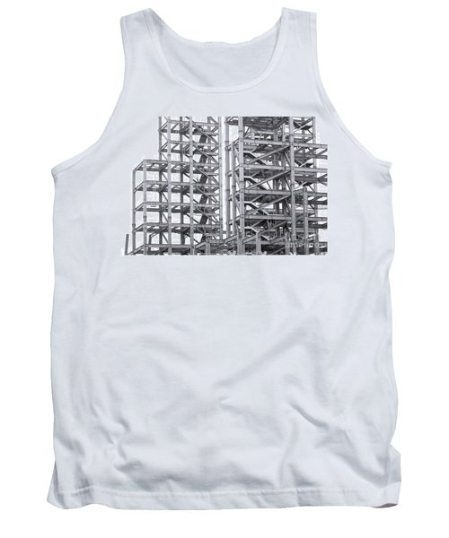 Tank Top featuring the photograph Large Scale Construction Project With Steel Girders by Yali Shi