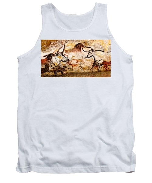 Lascaux Hall Of The Bulls - Deer And Aurochs Tank Top