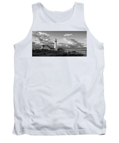 Late Afternoon Clouds, Portland Head Light  -98461 Tank Top