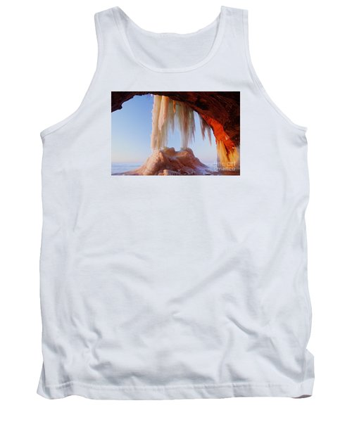 Tank Top featuring the photograph Late Afternoon In An Ice Cave by Larry Ricker